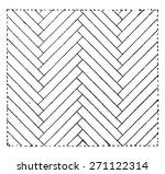 parquet sticks broken  vintage... | Shutterstock .eps vector #271122314