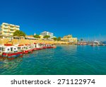 the port of spetses island in... | Shutterstock . vector #271122974