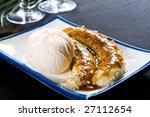 Ice Cream And Deep Fried Banana