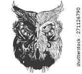 vector owl in black white... | Shutterstock .eps vector #271126790