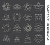 collection of geometric shapes. ... | Shutterstock .eps vector #271128908