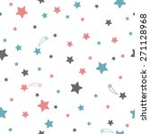 cute seamless pattern with stars   Shutterstock .eps vector #271128968