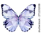 geometric light butterfly with... | Shutterstock . vector #271131038