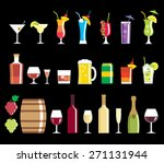 alcohol drink icons   vector set | Shutterstock .eps vector #271131944