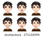 isolated set of color cartoon... | Shutterstock .eps vector #271133594
