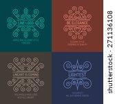 set of elegant lineart logos in ... | Shutterstock .eps vector #271136108