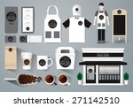 vector restaurant cafe design... | Shutterstock .eps vector #271142510