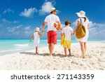 back view of a happy family at... | Shutterstock . vector #271143359