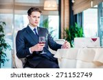 business and alcohol. confident ... | Shutterstock . vector #271152749