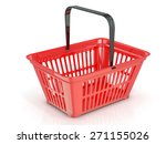 red shopping basket  side view. ... | Shutterstock . vector #271155026