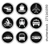 black transport related icon... | Shutterstock .eps vector #271161050