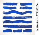 set of different blue brush... | Shutterstock .eps vector #271161284