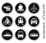 black transport related icon... | Shutterstock . vector #271161749