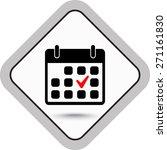 calendar sign icons  vector... | Shutterstock .eps vector #271161830