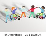 disabled  child  physical... | Shutterstock . vector #271163504