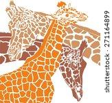 giraffe colored heads | Shutterstock .eps vector #271164899