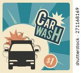 car wash  wagon  bubbles and... | Shutterstock .eps vector #271168169