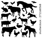 set of black silhouette of farm ... | Shutterstock . vector #271168568