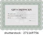 green gift certificate template   Shutterstock .eps vector #271169756