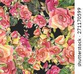 watercolor begonia floral... | Shutterstock . vector #271170599