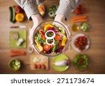hands holding an healthy fresh... | Shutterstock . vector #271173674