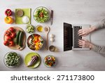 man in the kitchen searching... | Shutterstock . vector #271173800