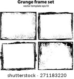 abstract grunge frame set | Shutterstock .eps vector #271183220