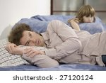 naughty girl  father attempting ... | Shutterstock . vector #27120124