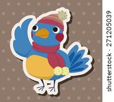 winter animal bird icon cartoon ... | Shutterstock . vector #271205039