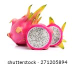 Pitaya Or Dragon Fruit Isolate...