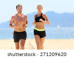 fitness running couple... | Shutterstock . vector #271209620