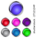 buttons of different colors for ... | Shutterstock .eps vector #27121249