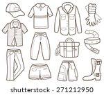 clothes collection  vector