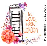 london phone booth with... | Shutterstock .eps vector #271214078