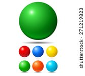 Set Of Bright Colored Balls....