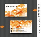 business card template with... | Shutterstock .eps vector #271219916