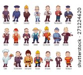 vector set of business people ... | Shutterstock .eps vector #271224620
