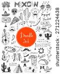 big doodle set   mexican | Shutterstock .eps vector #271224638