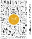 big doodle set   icecream | Shutterstock .eps vector #271224650
