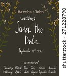 rustic save the date invitation ... | Shutterstock .eps vector #271228790