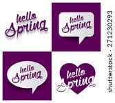 beautiful set of hello spring...   Shutterstock .eps vector #271230293