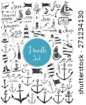 big doodle set   nautical | Shutterstock .eps vector #271234130