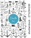 big doodle set   nautical | Shutterstock .eps vector #271234130