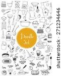 big doodle set   kitchen tools  ... | Shutterstock .eps vector #271234646