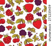 seamless pattern with summer... | Shutterstock .eps vector #271235459