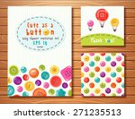 vector set with cute buttons.... | Shutterstock .eps vector #271235513