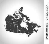 canada map | Shutterstock .eps vector #271236614