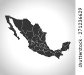 mexico map | Shutterstock .eps vector #271236629