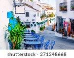 Mijas Street. Charming White...