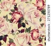 seamless floral pattern with... | Shutterstock . vector #271250789